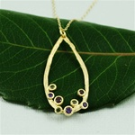 Gold Gemstones in the Hoop Necklace
