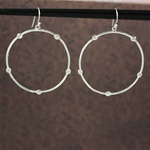 Silver Clear Stone Hoop Earrings