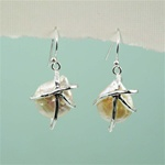 Silver Wrap a Pearl Earrings