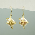 Gold Wrap a Pearl Earrings