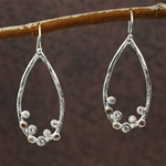 Silver Gemstones in the Hoop Earrings