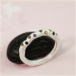 Silver Stone on Stick Ring