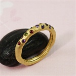 Gold Stone on Stick Ring