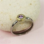 Black Rhodium Gold Face Amethyst Ring