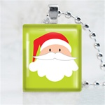 Santa Scrabble Game Tile Necklace