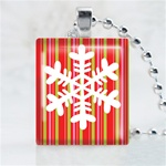 Funky Snowflake Scrabble Game Tile Necklace