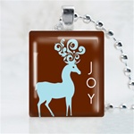 Joy Reindeer Scrabble Game Tile Necklace