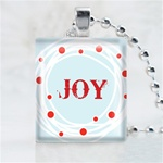 Joy Wreath Scrabble Game Tile Necklace