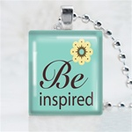 Be Inspired Scrabble Game Tile Necklace