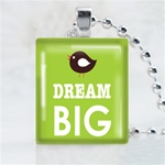 Dream Big Scrabble Game Tile Necklace