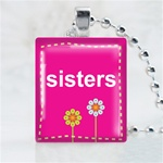 Sisters Scrabble Game Tile Necklace