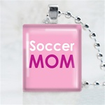 Soccer Mom Scrabble Game Tile Necklace