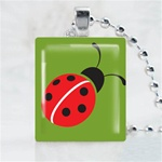 Ladybuy-Green Scrabble Game Tile Necklace