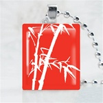 Bamboo-Red Scrabble Game Tile Necklace