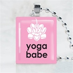 Yoga Babe Scrabble Game Tile Necklace