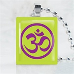 Yoga Sign Scrabble Game Tile Necklace