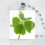 Clover Scrabble Game Tile Necklace