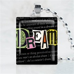 Dream Black Scrabble Game Tile Necklace
