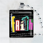 Faith Black Scrabble Game Tile Necklace