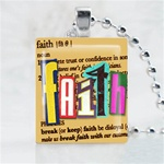 Faith Brown Scrabble Game Tile Necklace