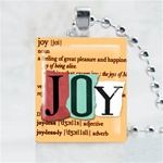 Joy Brown Scrabble Game Tile Necklace