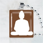 Buddha Brown Scrabble Game Tile Necklace