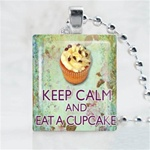 Cupcake Sprinkles Scrabble Game Tile Necklace