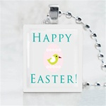 Happy Easter Egg Scrabble Game Tile Necklace