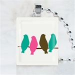 Party Birds Scrabble Game Tile Necklace