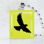 Black Eagle Scrabble Game Tile Necklace