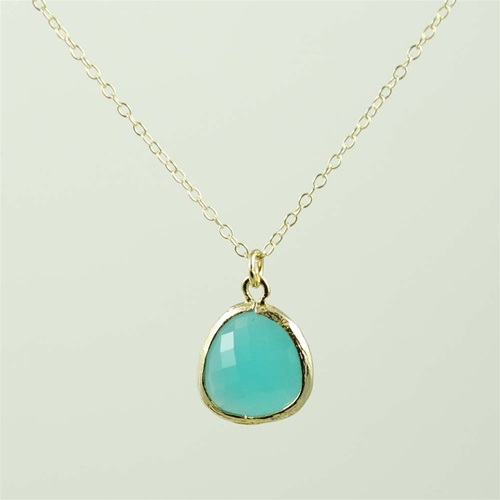 Framed green stone necklace gold framed green stone necklace aloadofball Gallery