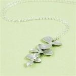 Silver Triple Orchid Necklace