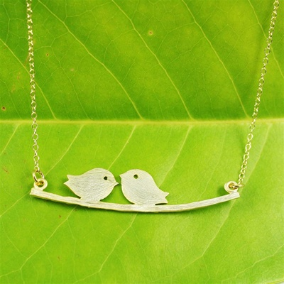 Gold Lovebird Necklace