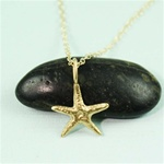 Gold Sea Star Charm Necklace