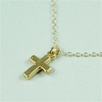 Gold Cross Charm Necklace