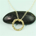 Gold Ring Charm Necklace