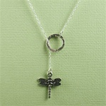 Silver Ring and Dragonfly Charm Necklace