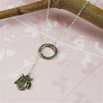 Silver Ring and Owl Charm Necklace