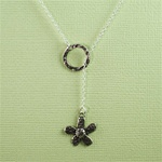 Silver Ring and Daisy Charm Necklace