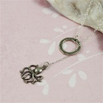 Silver Ring and Octopus Charm Necklace