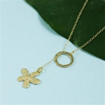 Gold Ring and Daisy Charm Necklace