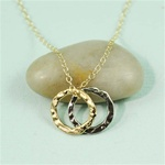 Two Tone Ring Charm Necklace