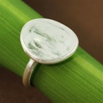 Silver Table Rainbow Moonstone Ring