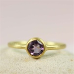 Gold Round Amethyst Ring