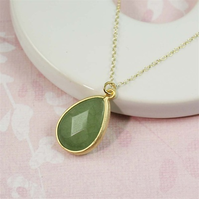 Gold Drop Aventurine Necklace