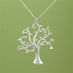 Silver Heart Tree Necklace