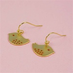 Gold Bird Earrings