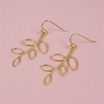Gold Leaf Branch Earrings