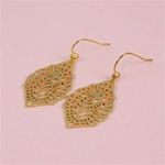 Gold Oriental Palace Earrings