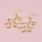 Gold Scoop Spring Earrings